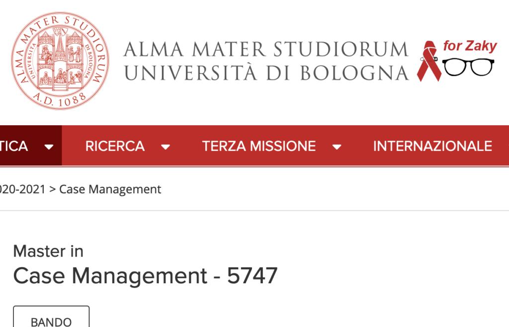 Università degli studi di Bologna: master in Case Management 5747